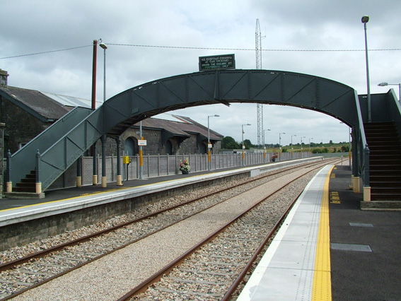 footbridge in Railway Station Ballyhaunis