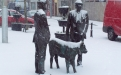 The Square Ballyhaunis in the Snow
